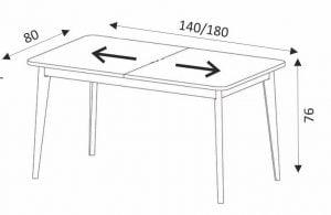 Stół do jadalni Cali Meble-Diana.pl